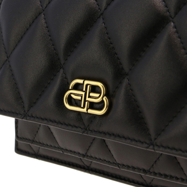 Balenciaga B Quilted 纳帕革绗缝手袋 黑色 5