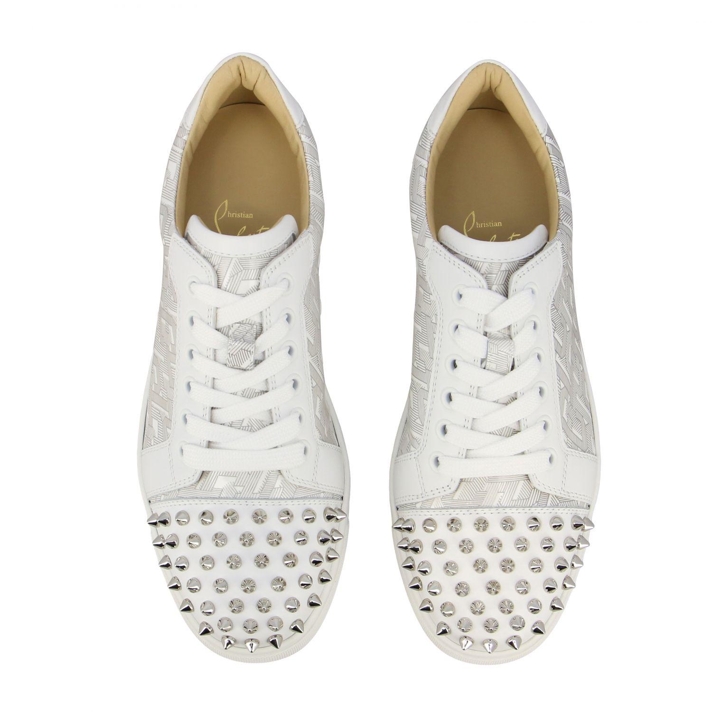 Vieira 2 Leather Sneakers Christian Louboutin   Mytheresa