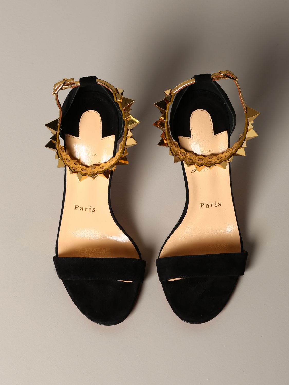 Christian Louboutin Planetava sandal in suede with studs black 3