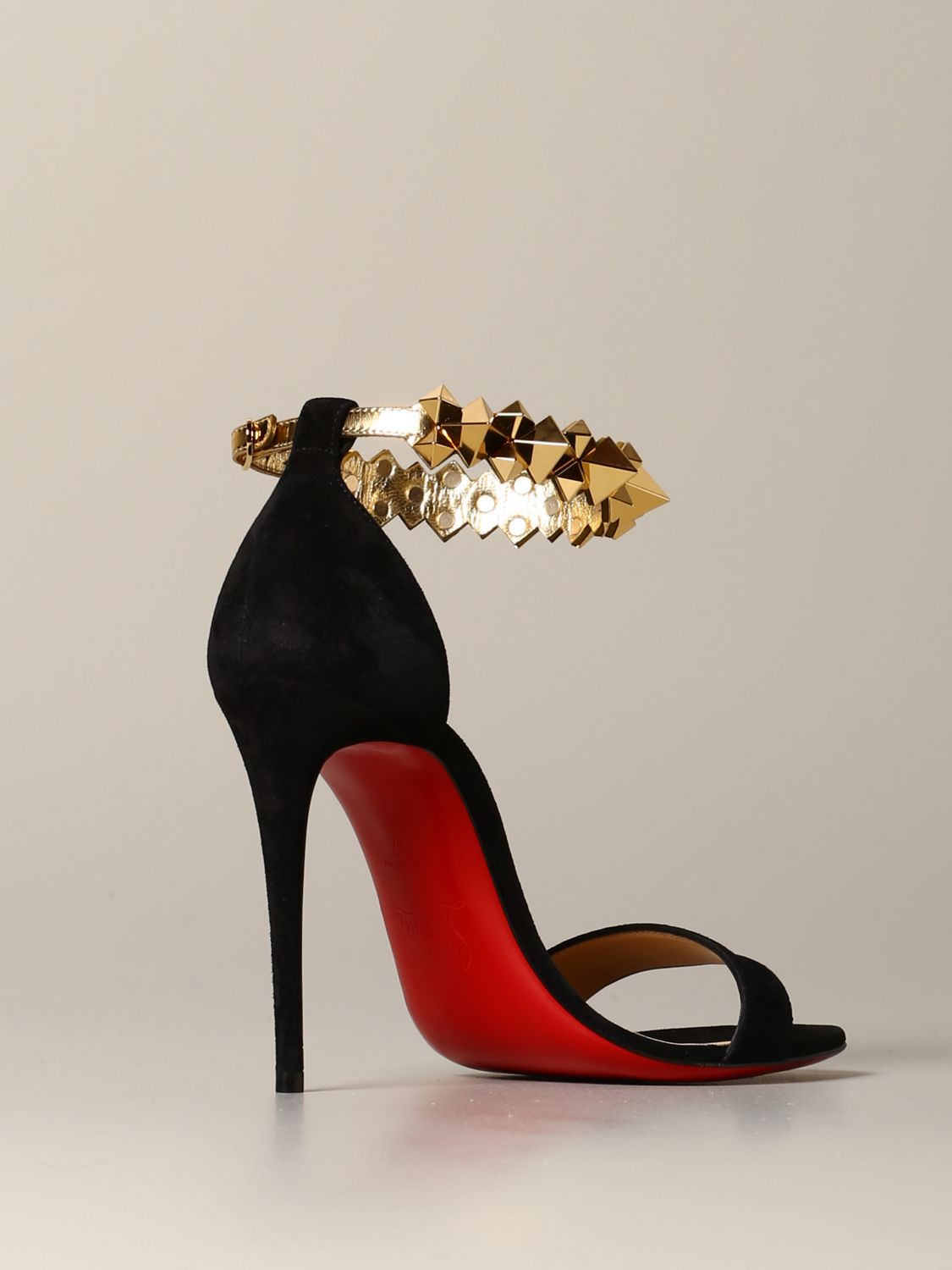 Christian Louboutin Planetava sandal in suede with studs black 5