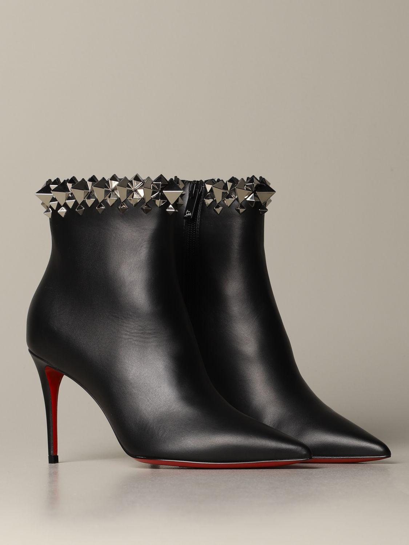 Heeled ankle boots Christian Louboutin: Shoes women Christian Louboutin black 2