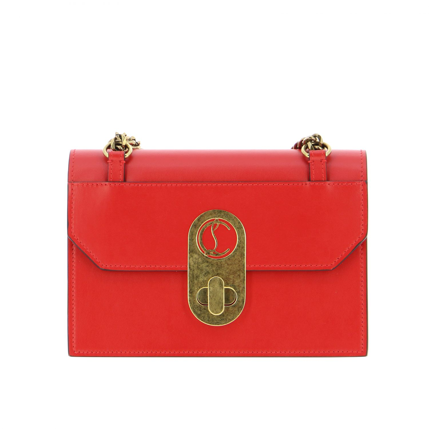 Elisa Christian Louboutin leather bag red 1
