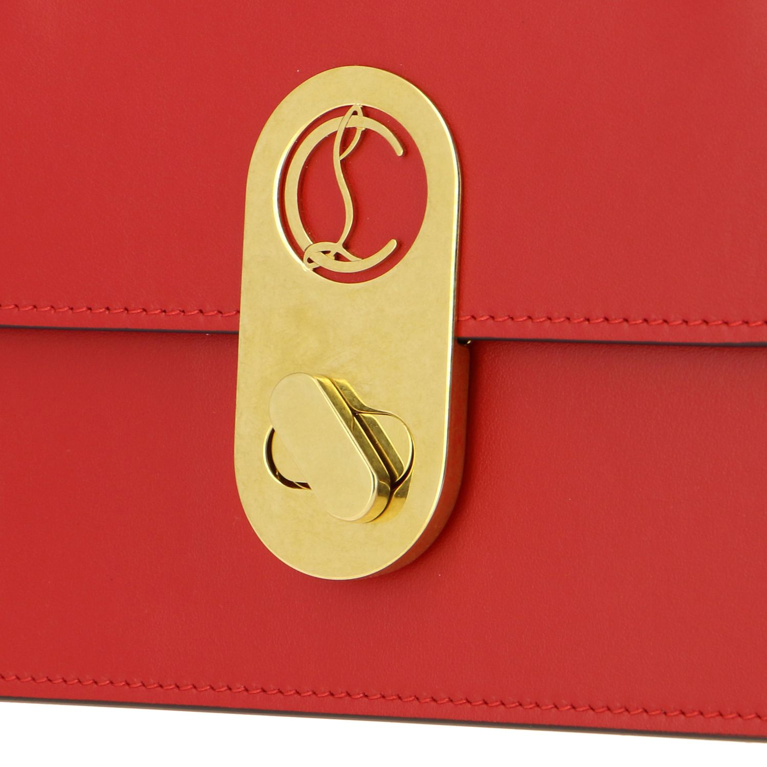Elisa Christian Louboutin leather bag red 4