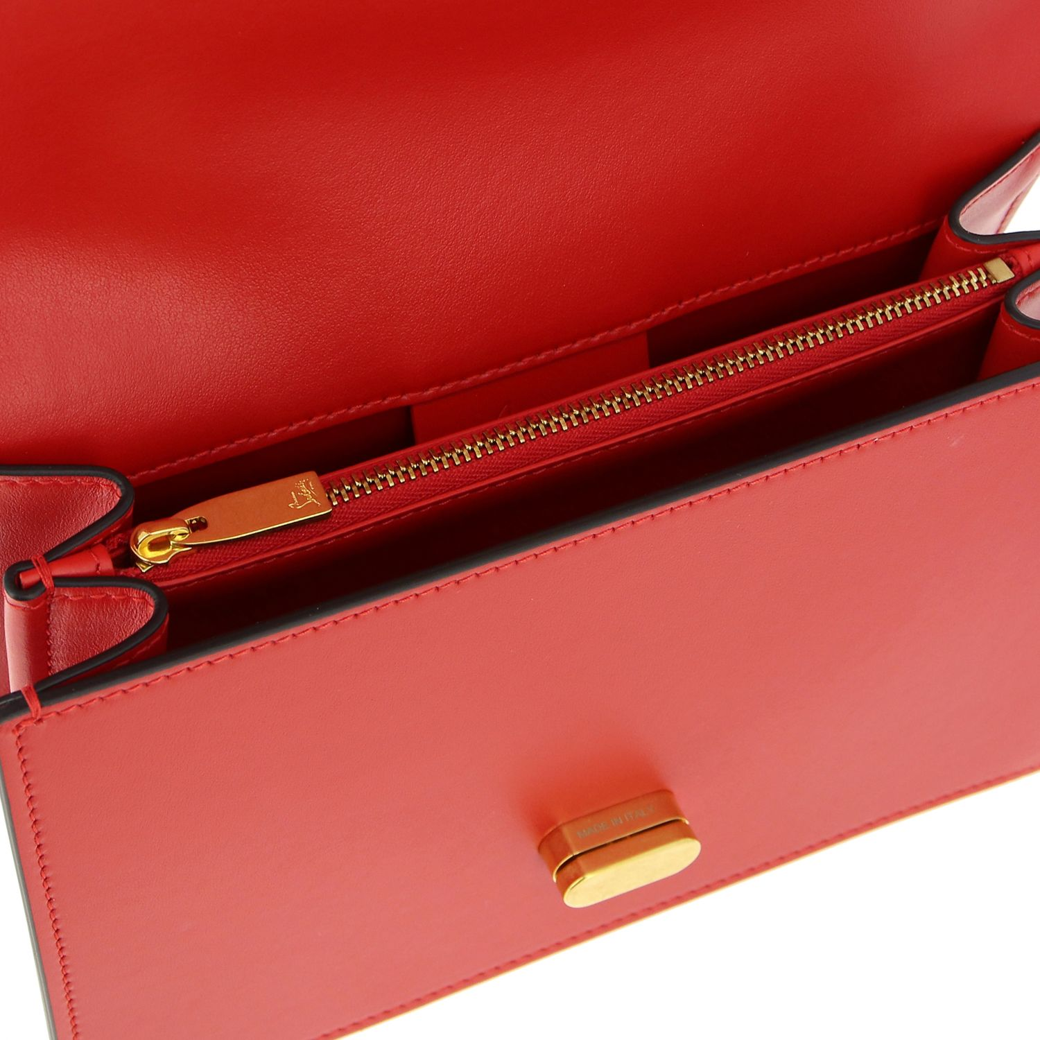 Elisa Christian Louboutin leather bag red 5