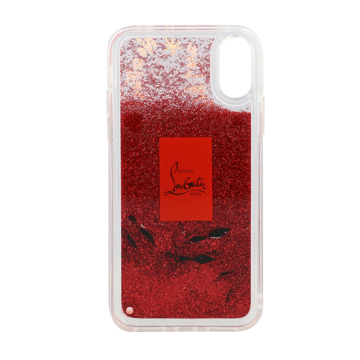Christian Louboutin cover in rubber with glitter and prints transparent 2