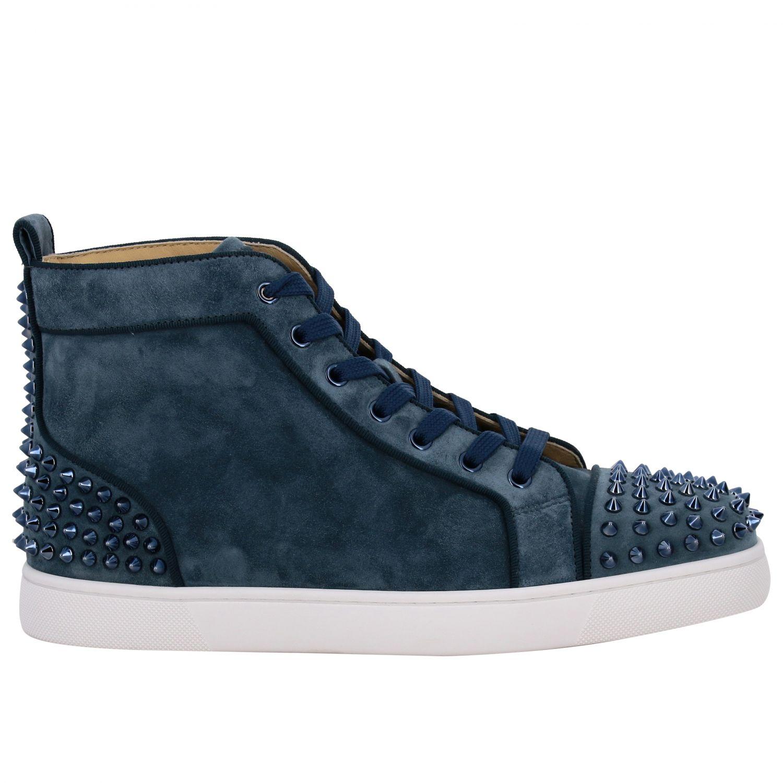 Sneakers Lou Spikes 2 Christian Louboutin petrolio 1