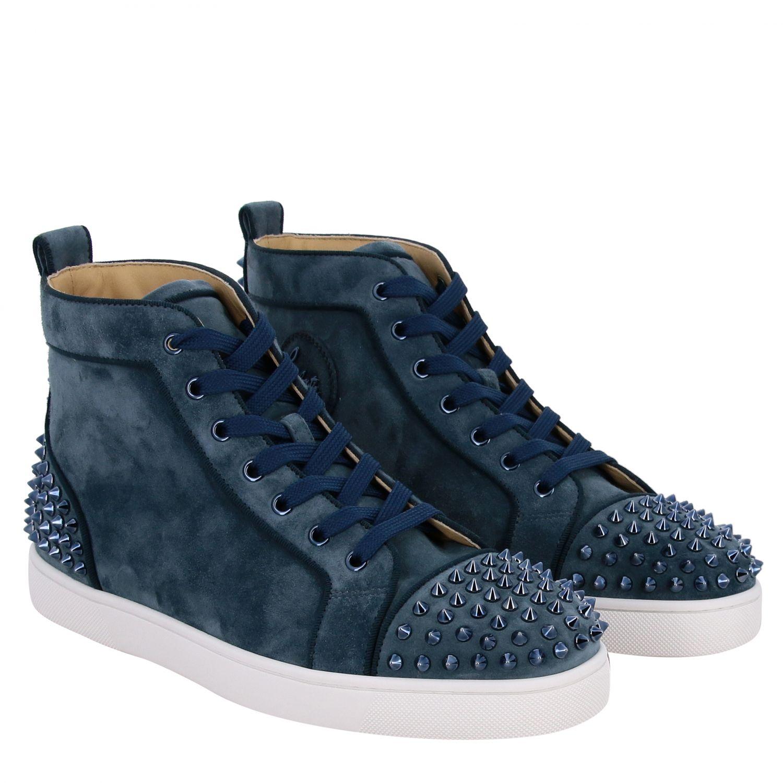Sneakers Lou Spikes 2 Christian Louboutin petrolio 2