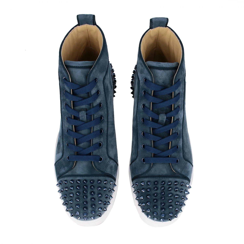 Sneakers Lou Spikes 2 Christian Louboutin petrolio 3