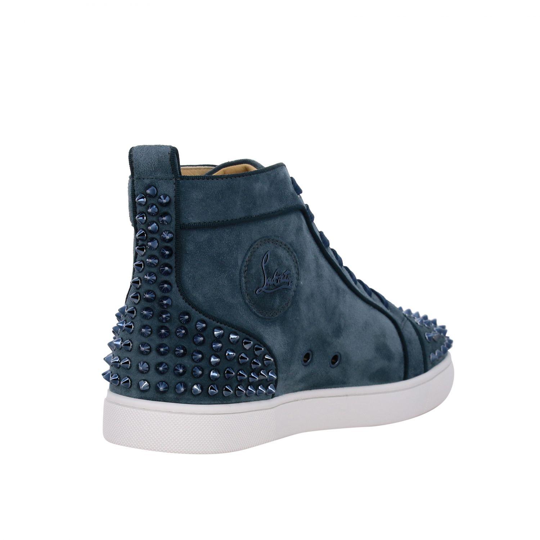 Sneakers Lou Spikes 2 Christian Louboutin petrolio 5