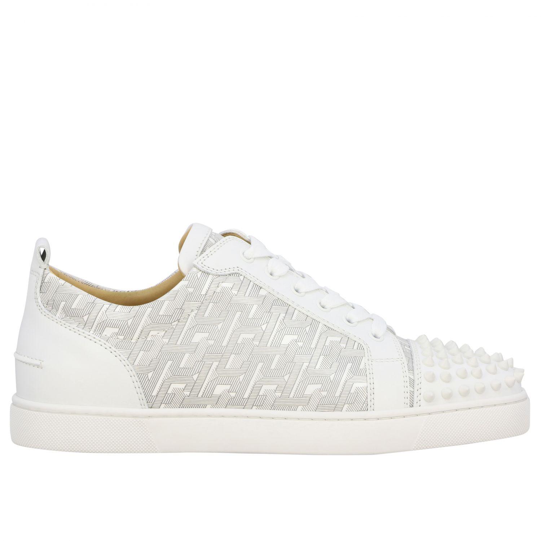 Christian Louboutin Louis Junior Spikes Sneakers weiß 1