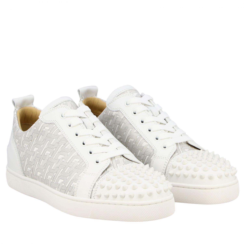 Christian Louboutin Louis Junior Spikes Sneakers weiß 2