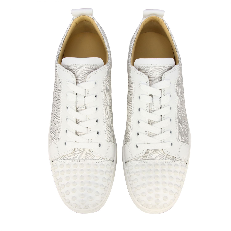 Christian Louboutin Louis Junior Spikes Sneakers weiß 3