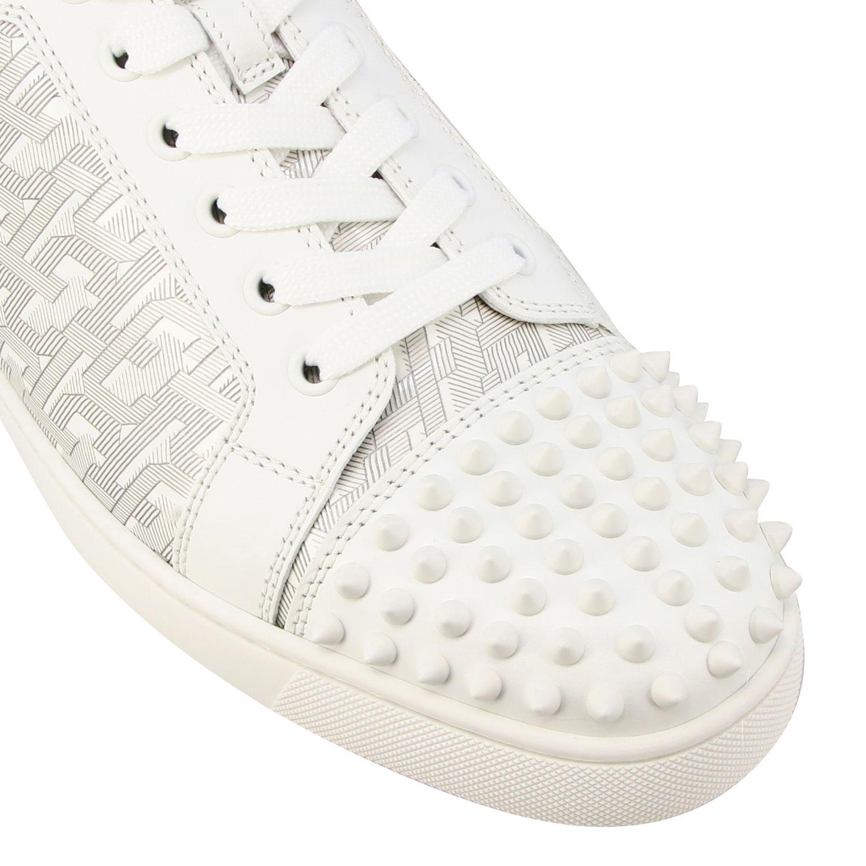 Christian Louboutin Louis Junior Spikes Sneakers weiß 4