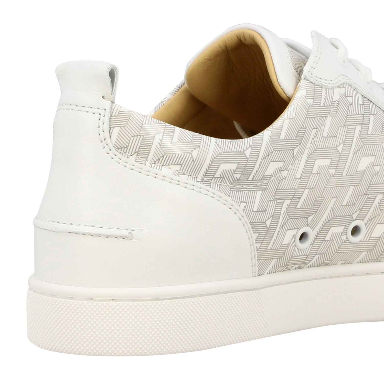 Christian Louboutin Louis Junior Spikes Sneakers weiß 5