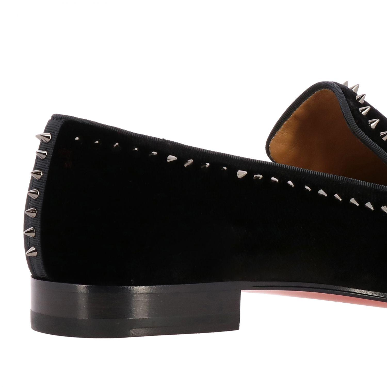 Dandeton Spikes Christian Louboutin flat moccasin in velvet with studs black 5