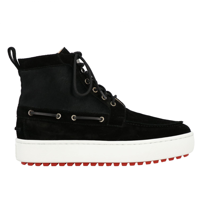 Sneakers Christian Louboutin: Christian Louboutin Toronto Leder Sneakers aus Wildleder und Cavallino schwarz 1