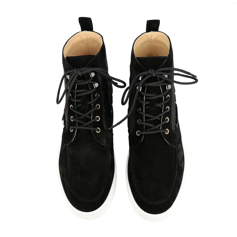 Sneakers Christian Louboutin: Christian Louboutin Toronto Leder Sneakers aus Wildleder und Cavallino schwarz 3