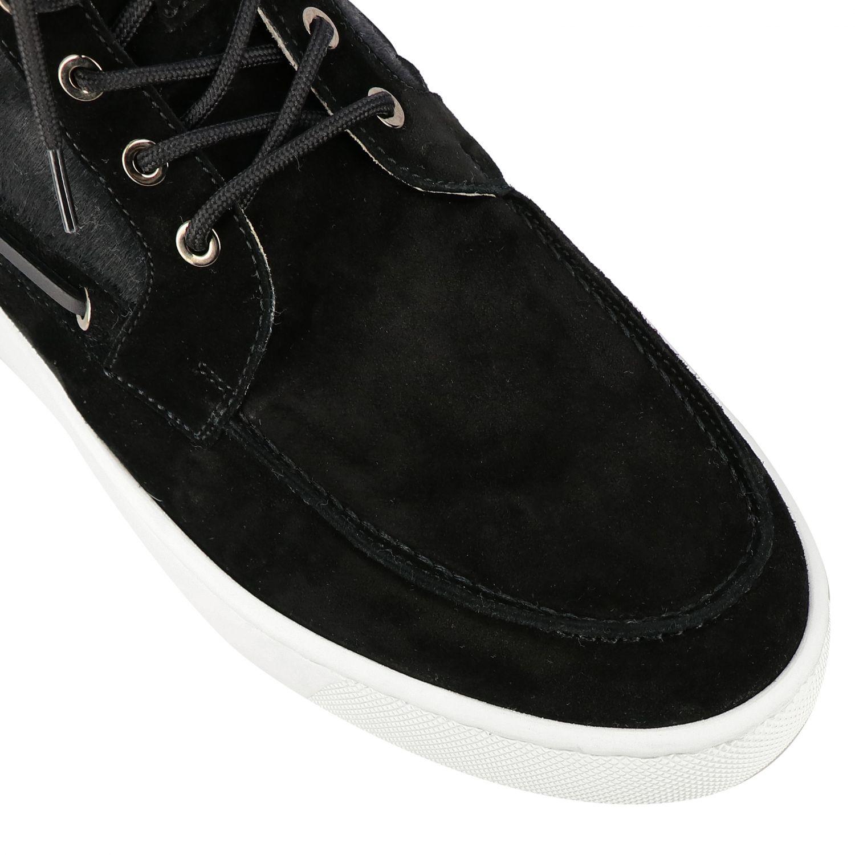 Sneakers Christian Louboutin: Christian Louboutin Toronto Leder Sneakers aus Wildleder und Cavallino schwarz 4