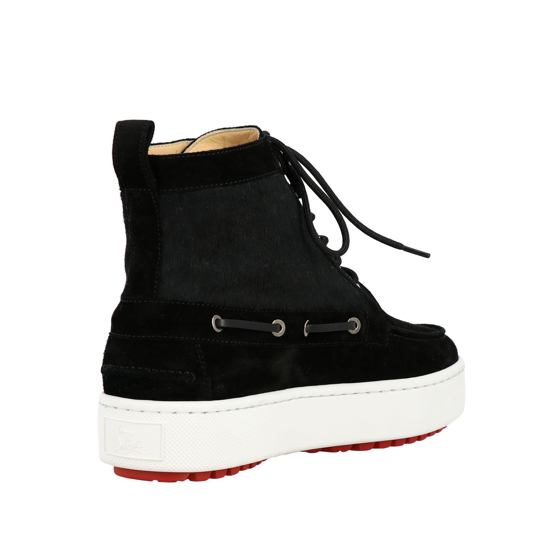 Sneakers Christian Louboutin: Christian Louboutin Toronto Leder Sneakers aus Wildleder und Cavallino schwarz 5