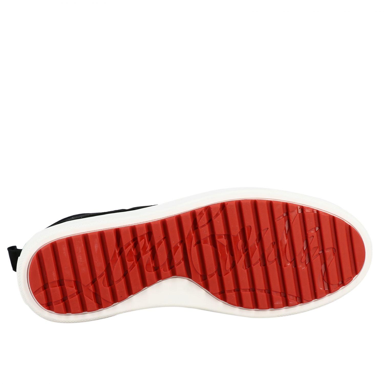 Sneakers Christian Louboutin: Christian Louboutin Toronto Leder Sneakers aus Wildleder und Cavallino schwarz 6