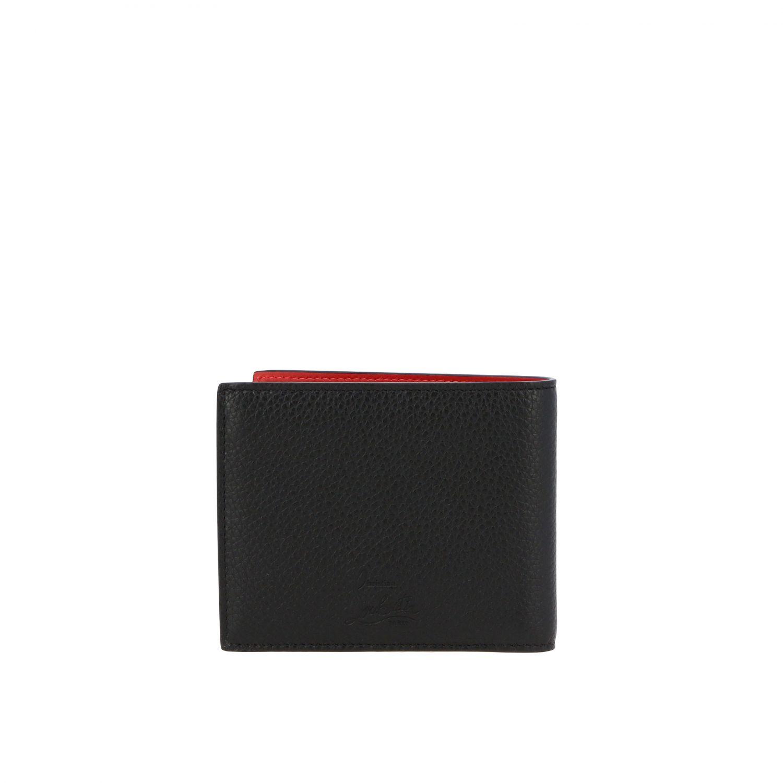 Portafoglio Cool card Christian Louboutin in pelle martellata nero 3