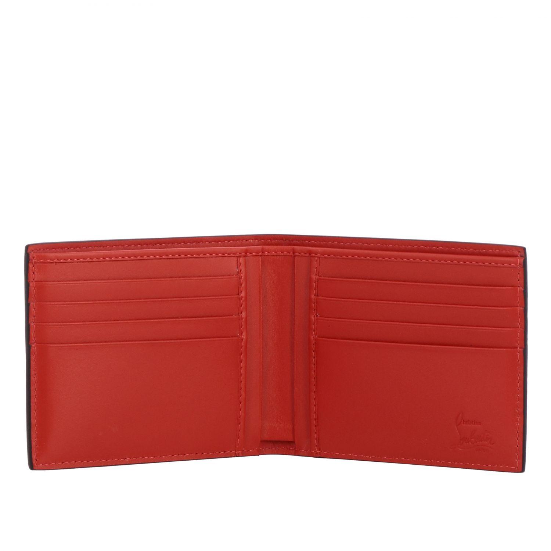 Christian Louboutin Geldbörse aus strukturiertem Leder mit zweifarbigem Logo schwarz 2