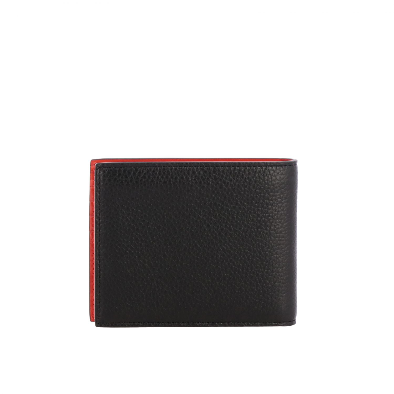 Christian Louboutin Geldbörse aus strukturiertem Leder mit zweifarbigem Logo schwarz 3