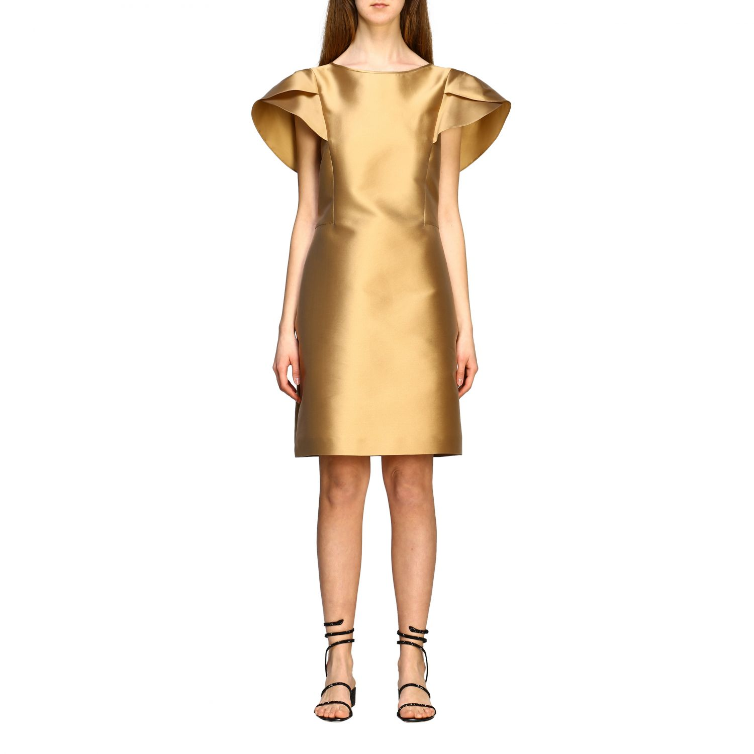 Dress Alberta Ferretti: Alberta Ferretti corolla dress gold 1
