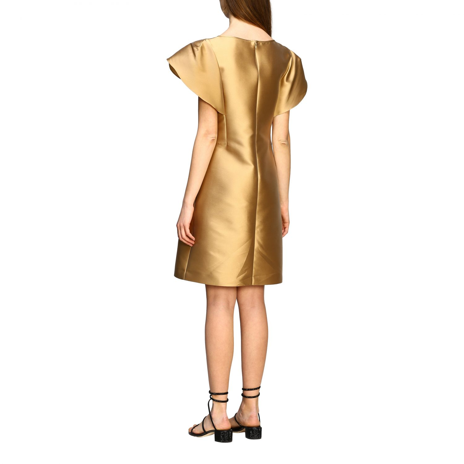 Dress Alberta Ferretti: Alberta Ferretti corolla dress gold 2