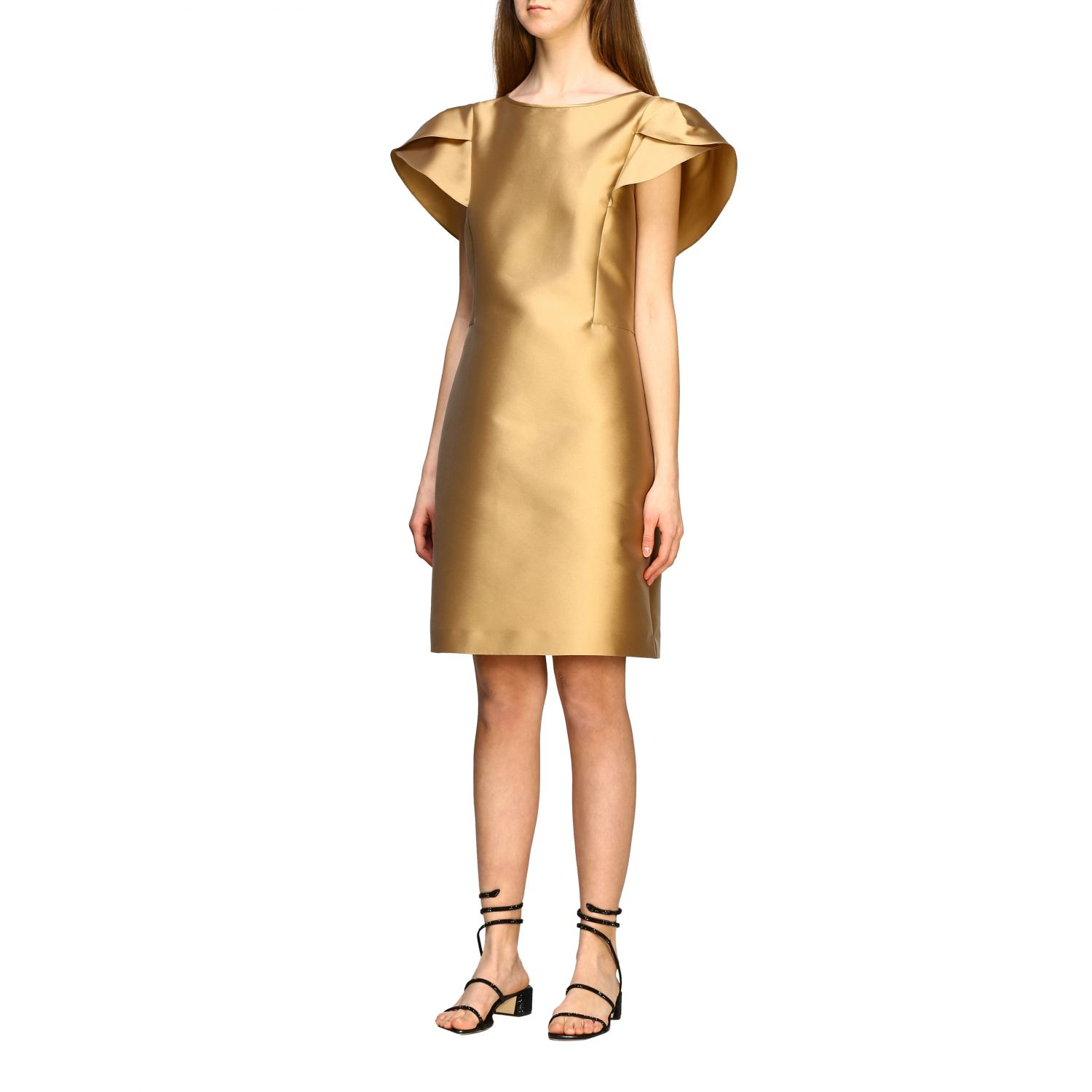 Dress Alberta Ferretti: Alberta Ferretti corolla dress gold 3