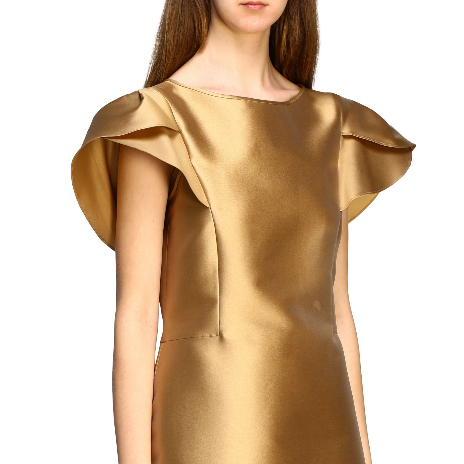 Dress Alberta Ferretti: Alberta Ferretti corolla dress gold 4