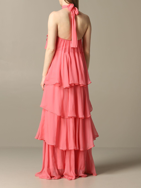 Robes Alberta Ferretti: Robe longue en organza Alberta Ferretti rose 2