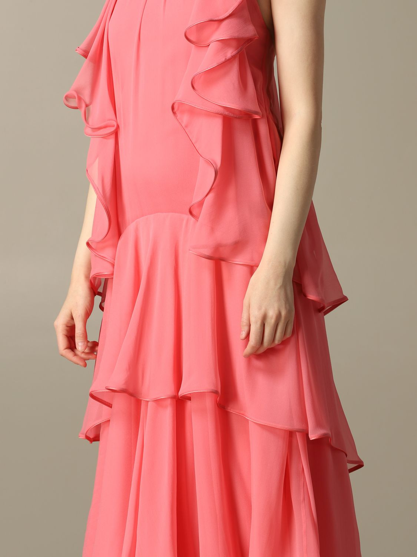Robes Alberta Ferretti: Robe longue en organza Alberta Ferretti rose 3