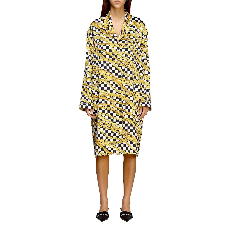 Kleid Balenciaga: Balenciaga Kleid mit durchgehendem Ketten Print schwarz 1