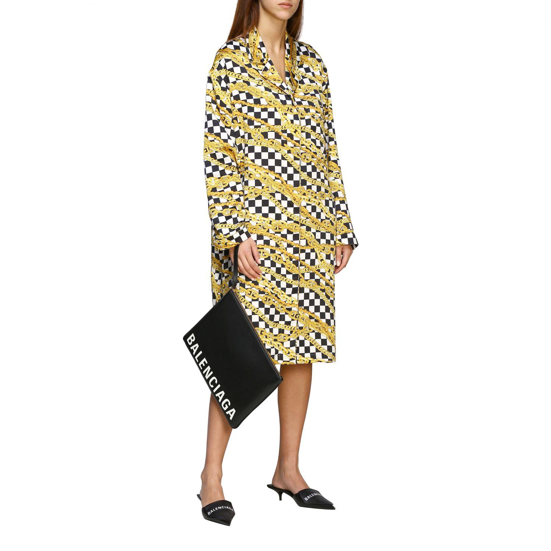 Kleid Balenciaga: Balenciaga Kleid mit durchgehendem Ketten Print schwarz 2