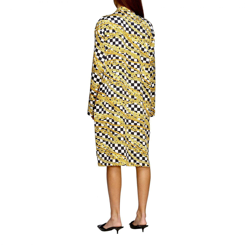 Kleid Balenciaga: Balenciaga Kleid mit durchgehendem Ketten Print schwarz 3