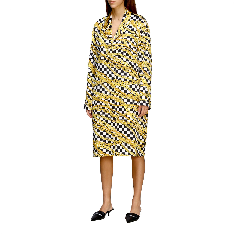 Kleid Balenciaga: Balenciaga Kleid mit durchgehendem Ketten Print schwarz 4