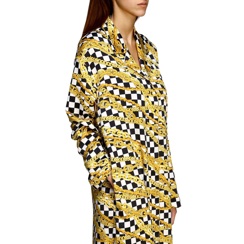 Kleid Balenciaga: Balenciaga Kleid mit durchgehendem Ketten Print schwarz 5