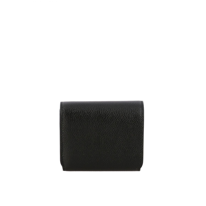 Portafoglio Balenciaga mini in pelle martellata nero 3