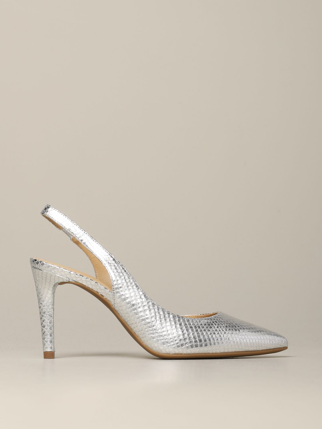 Michael Michael Kors Lucille flex d'orsay pumps in python print leather silver 1