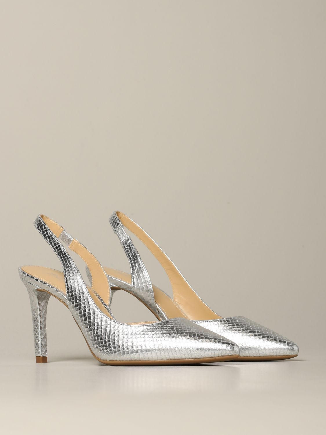 Michael Michael Kors Lucille flex d'orsay pumps in python print leather silver 2