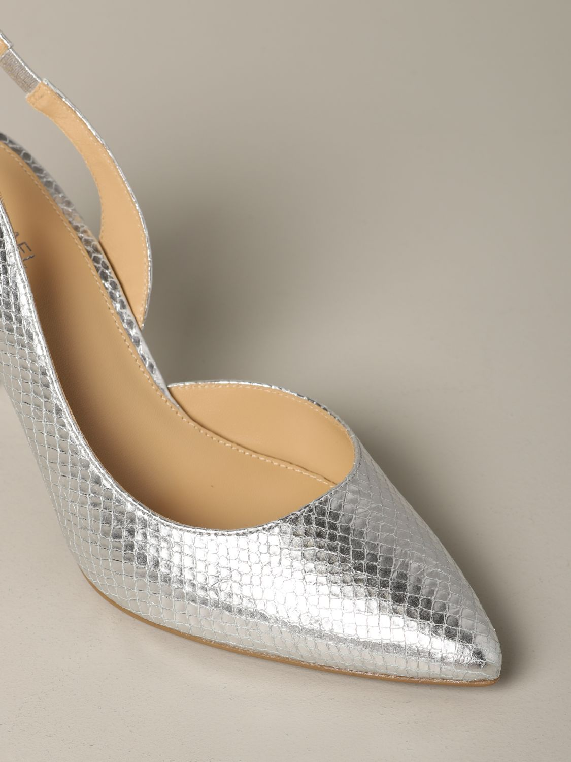 Michael Michael Kors Lucille flex d'orsay pumps in python print leather silver 4