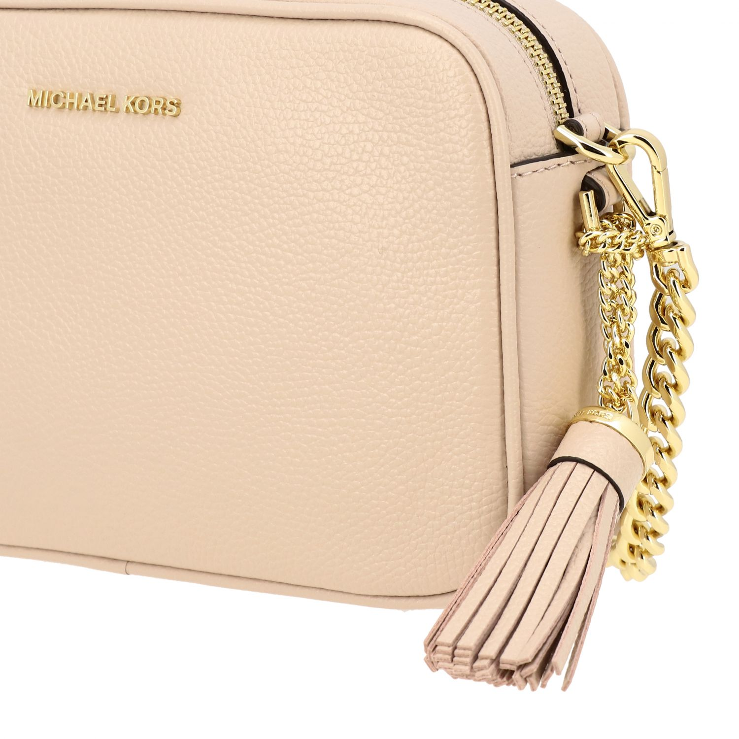 Borsa Jet Set camera bag Michael Michael Kors in pelle cipria 4