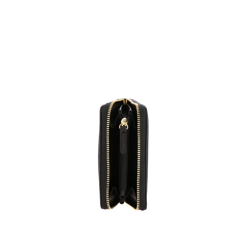 Portafoglio Mott mini Michael Michael Kors in pelle con logo metallico nero 2