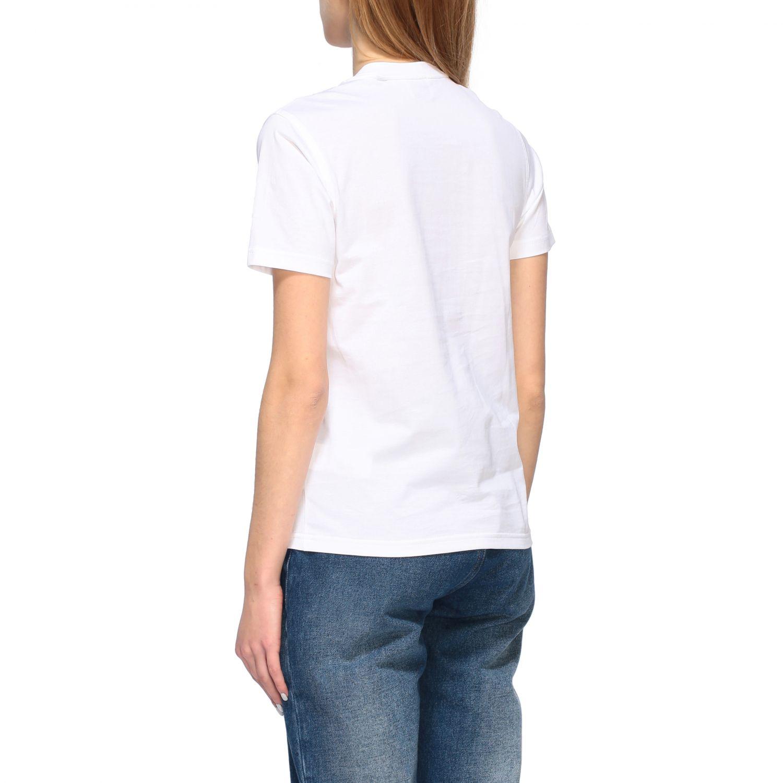 T-shirt Burberry con stampa logo bianco 3