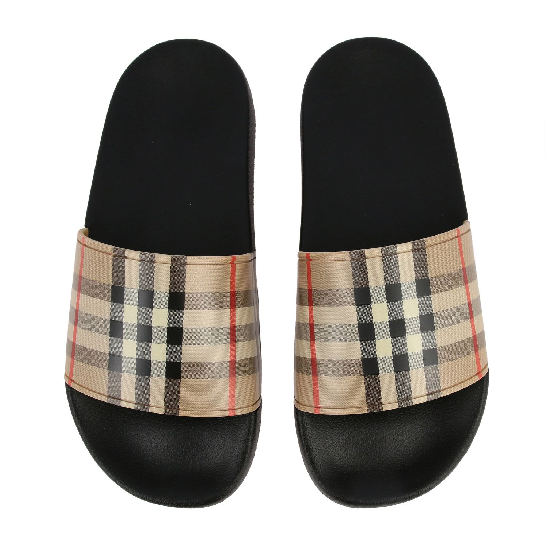 Sandalo a ciabatta Furley Burberry check beige 3