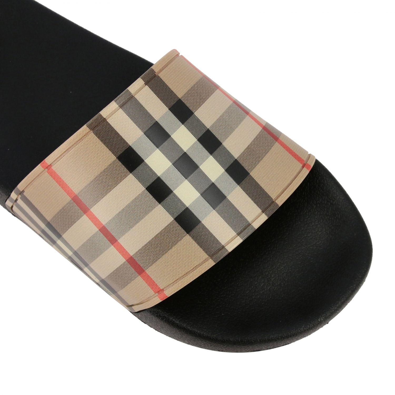 Sandalo a ciabatta Furley Burberry check beige 4