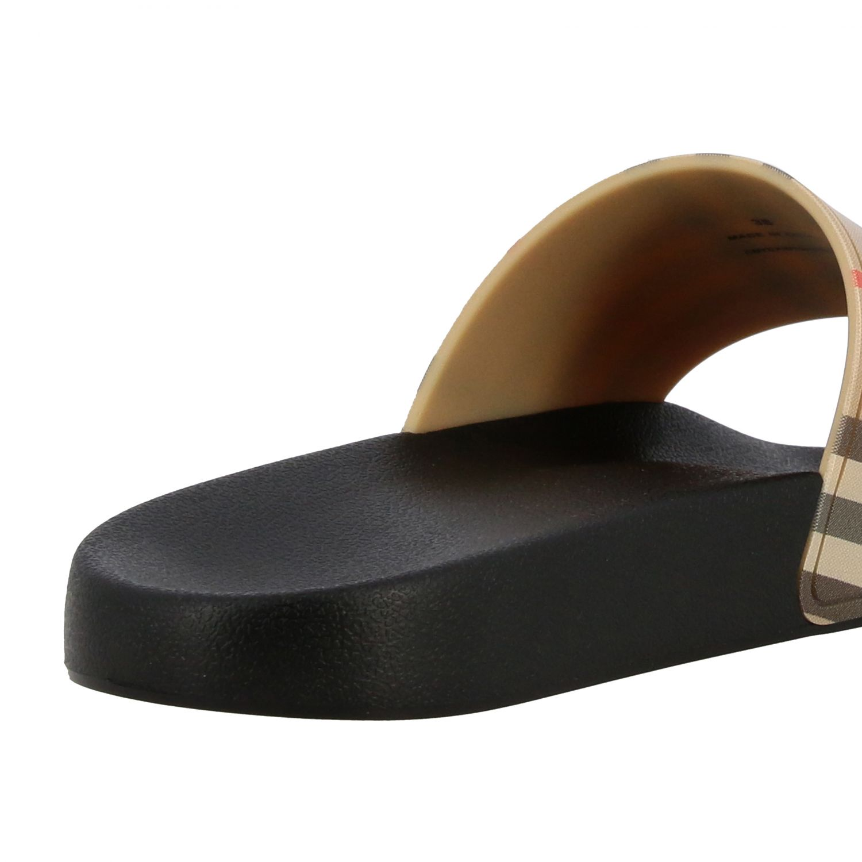 Sandalo a ciabatta Furley Burberry check beige 5