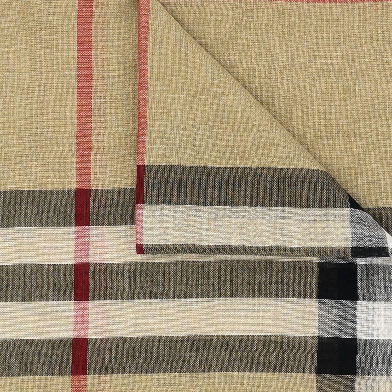 Sciarpa Gauze novelty Burberry in lana e seta check beige 3