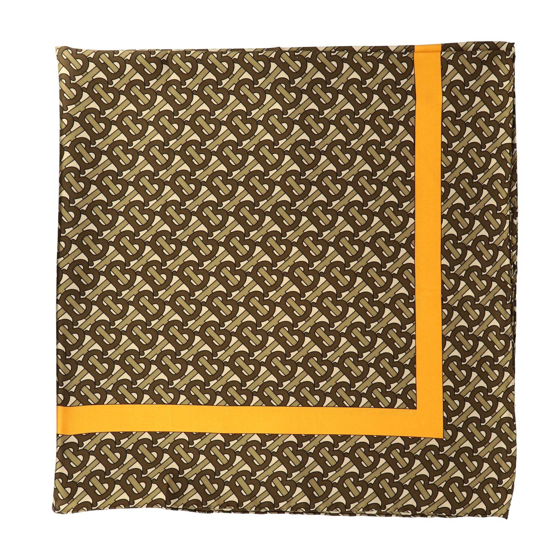 Burberry silk scarf with TB monogram print beige 1